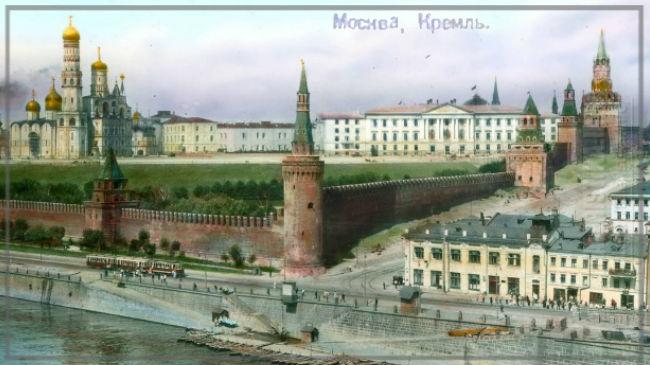 Branson DeCou. Москва. Вид Кремля со стороны Москвы-реки. 1931
