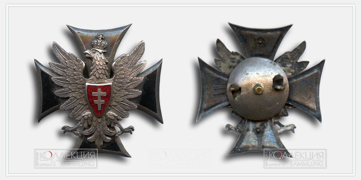 Офицерский знак Литовско-Белорусского Фронта, Польша,1919
