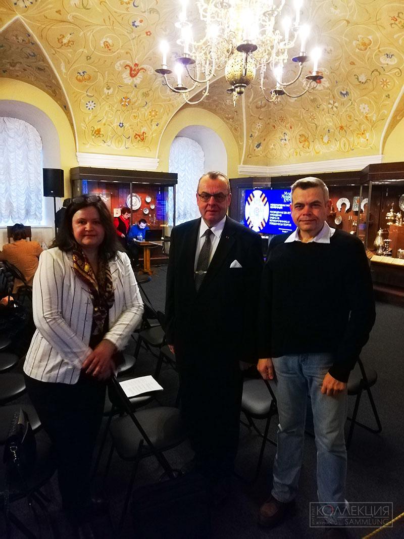 Екатерина Лапиньш (Tallinn Museum of Order of Knighthood) , Том Бергрот (Tom C Bergroth, The Royal Order of Knighthood), Алексей Сидельников (SAMMLUNG/КОЛЛЕКЦИЯ)